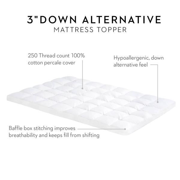 "3"" Down Alternative Mattress Topper"