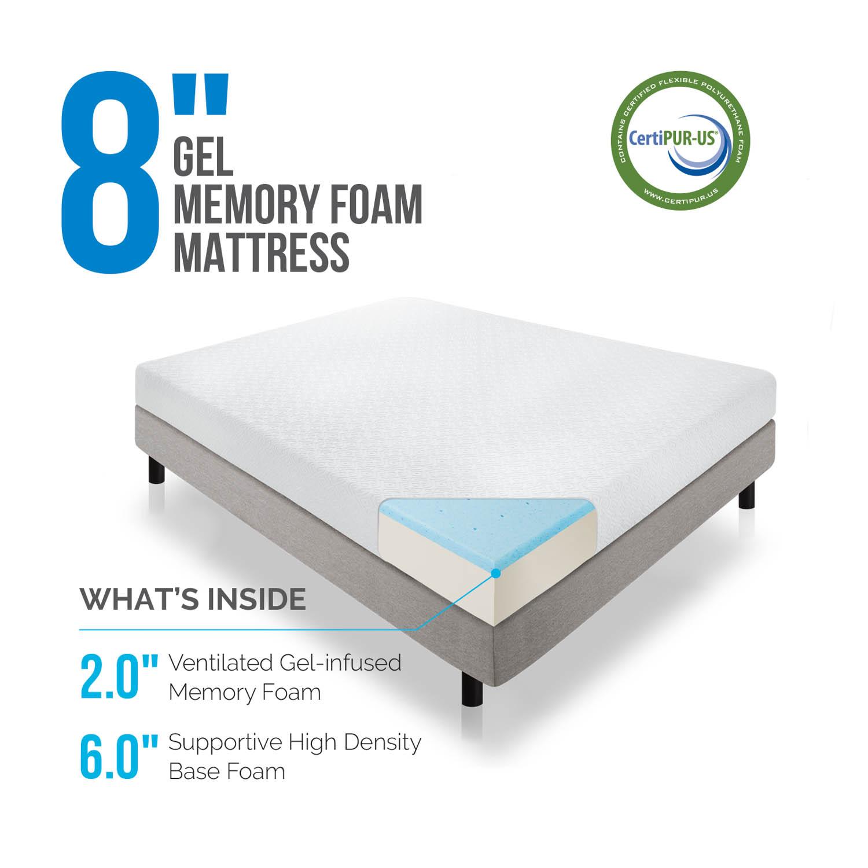 8 inch Gel Memory Foam Mattress