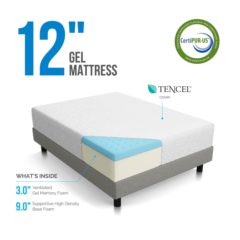 12 inch Gel Memory Foam Mattress